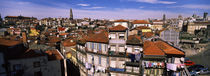 High angle view of buildings in a city, Porto, Portugal von Panoramic Images