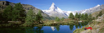 Hiker Matterhorn Mountain Switzerland von Panoramic Images