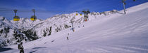 Tourists skiing on snow, Rendl, St. Anton, Austria von Panoramic Images