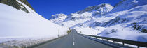 Empty road passing through a polar landscape, Route 3, Graubunden, Switzerland by Panoramic Images