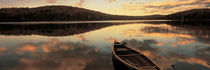 Water And Boat, Maine, New Hampshire Border, USA by Panoramic Images