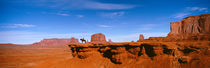 Person riding a horse on a landscape, Monument Valley, Arizona, USA von Panoramic Images