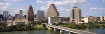 Buildings in a city, Town Lake, Austin, Texas, USA von Panoramic Images