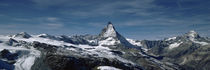 Snow on mountains, Matterhorn, Valais, Switzerland by Panoramic Images