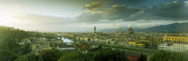 High angle view of a city from Piazzale Michelangelo, Florence, Tuscany, Italy by Panoramic Images
