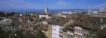 High angle view of buildings in a city, Lausanne, Switzerland by Panoramic Images