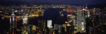 Buildings Illuminated At Night, Hong Kong by Panoramic Images