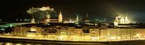 Cityscape night Salzburg, Austria von Panoramic Images