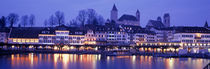 Evening, Lake Zurich, Rapperswil, Switzerland von Panoramic Images