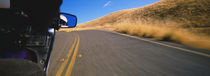Motorcycle on a road, California, USA von Panoramic Images