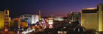 Buildings Lit Up At Night, Las Vegas, Nevada, USA by Panoramic Images