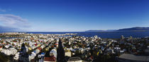 High angle view of a city, Reykjavik, Iceland by Panoramic Images