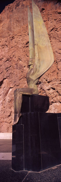 Statue at a dam, Boulder City, Hoover Dam, Arizona and Nevada, USA by Panoramic Images