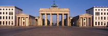 Facade of a building, Brandenburg Gate, Berlin, Germany by Panoramic Images