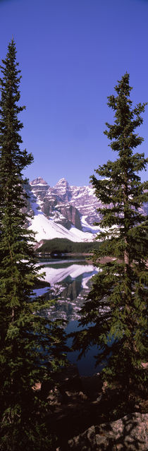 Lake in front of mountains, Banff, Alberta, Canada von Panoramic Images
