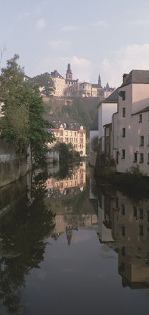 Luxembourg, Luxembourg City, Alzette River Flowing through Grund District by Panoramic Images