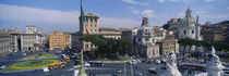 High angle view of traffic on a road, Piazza Venezia, Rome, Italy von Panoramic Images