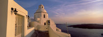 Buildings at the waterfront, Santorini, Cyclades Islands, Greece by Panoramic Images