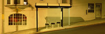 USA, California, San Francisco, Bus stop at night by Panoramic Images