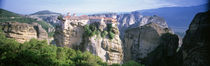 Monastery on the top of a cliff, Roussanou Monastery, Meteora, Thessaly, Greece by Panoramic Images