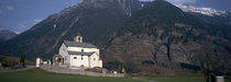 Church in front of a mountain, Blenio Valley, Ticino, Switzerland von Panoramic Images