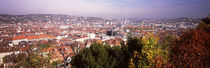 High angle view of a city, Stuttgart, Baden-Württemberg, Germany von Panoramic Images