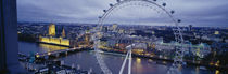 Ferris wheel in a city, Millennium Wheel, London, England by Panoramic Images