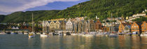 Boats in a river, Bergen, Hordaland, Norway by Panoramic Images