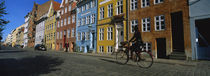 Woman Riding A Bicycle, Copenhagen, Denmark by Panoramic Images