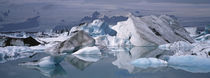 Glacier Floating On Water, Vatnajokull Glacier, Iceland by Panoramic Images