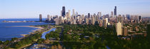 Aerial View Of Skyline, Chicago, Illinois, USA by Panoramic Images
