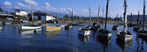 Boats in the water, Cien Fuegos, Cuba von Panoramic Images