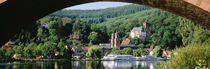 Town viewed through an arch bridge, Miltenberg, Bavaria, Germany von Panoramic Images