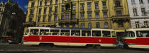 Electric train on a street, Prague, Czech Republic von Panoramic Images