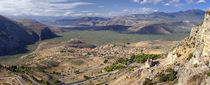 High angle view of islands, Itea, Chrisso, Delphi, Phocis, Greece by Panoramic Images
