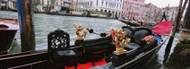 Close-up of a gondola in a canal, Grand Canal, Venice, Italy by Panoramic Images