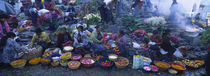 High Angle View Of A Group Of People In A Vegetable Market, Solola, Guatemala by Panoramic Images