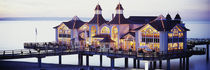Sea Bridge Lit Up At Dusk, Sellin, Isle Of Ruegen, Germany von Panoramic Images