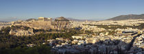 Town on a hill, Philopappou Hill, Athens, Greece von Panoramic Images