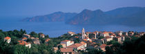 High angle view of a town at the coast, Piana, Corsica, France by Panoramic Images