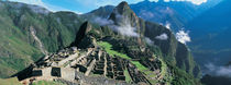 High angle view of ruins of ancient buildings, Inca Ruins, Machu Picchu, Peru by Panoramic Images