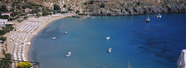 High angle view of a beach, Lindos, Rhodes, Greece by Panoramic Images