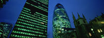 Swiss Re Tower, London, England by Panoramic Images