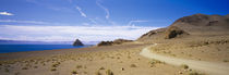 Dirt road on a landscape, Pyramid Lake, Nevada, USA von Panoramic Images