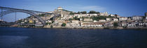 Buildings at the waterfront, Serra do Pillar, Douro River, Porto, Portugal by Panoramic Images