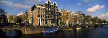Buildings along a canal, Amsterdam, Netherlands von Panoramic Images