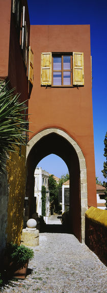 Archway of a house, Rhodes, Greece by Panoramic Images