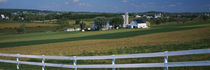 Farmhouse in a field, Amish Farms, Lancaster County, Pennsylvania, USA by Panoramic Images