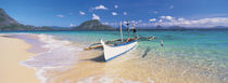 Fishing boat moored on the beach, Palawan, Philippines by Panoramic Images