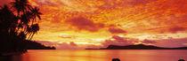 Panorama Print - Sonnenuntergang, Huahine Island, Tahiti von Panoramic Images